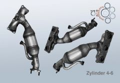 Exhaust manifold Catalytic Converter BMW 3 Touring 330xi (E91N) (Zyl.4-6)