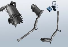 Diesel Particulate Filter VW EOS 2.0TDI (1F)